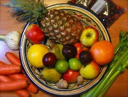 schaal met fruit