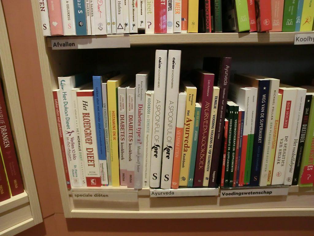 Het boek Histamine en ik bij boekhandel Scheltema in Amsterdam