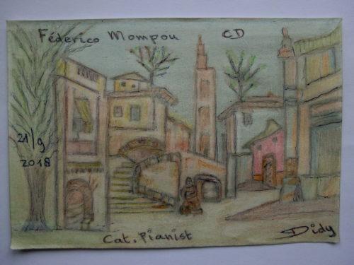 tekening Catalaans dorp door Didy van de Veer