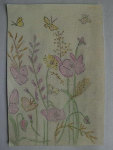 tekening bloemen door Didy van de Veer